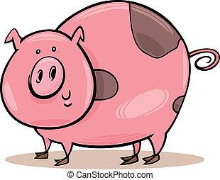 Animales agrícolas: cerdo manchado