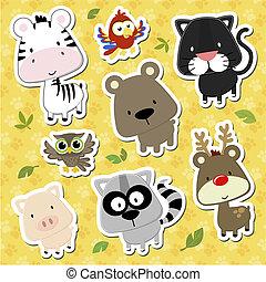 Animales bebés vector de caricaturas