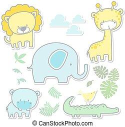 Animales de bebé de arte infantil