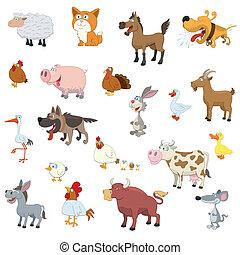 Animales de granja preparados