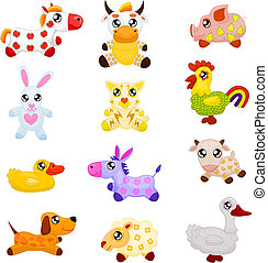 Animales de juguete domésticos