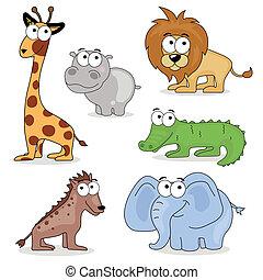 Animales de vector africano