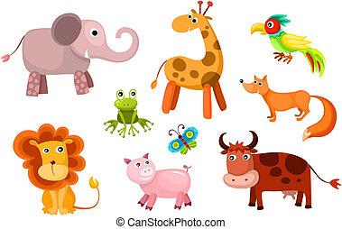 Animales del vector listos