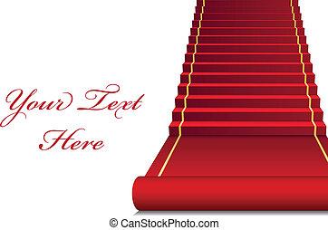 Antecedente de vector con alfombra roja