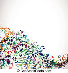 Antecedente de vector con notas musicales