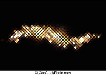 Antecedente mágico vectorial con destellos de oro
