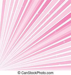 Antecedentes abstractos rosados con estrellas, ilustración vector 10.0