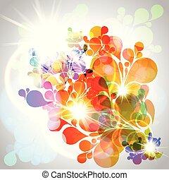 Antecedentes abstractos y coloridos