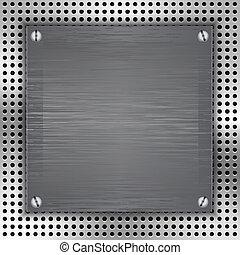 Antecedentes aislados con instrucción de metal cepillado