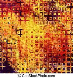 Antecedentes antiguos texturados. Con amarillo, marrón, rojo, patrones naranja