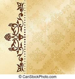 Antecedentes arabescos florales