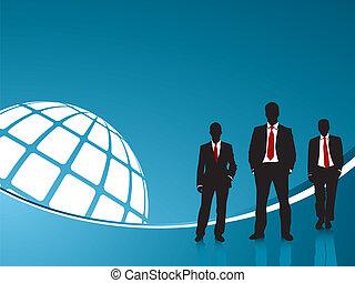 Antecedentes azules y gente de negocios