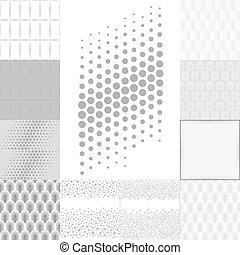 Antecedentes blancos grises