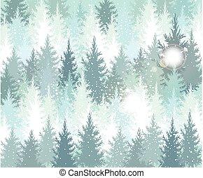 Antecedentes con bosques de invierno