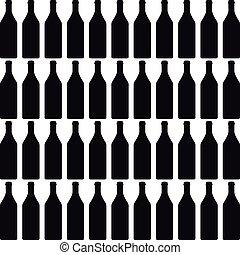 Antecedentes con botellas color silueta