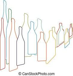 Antecedentes con botellas