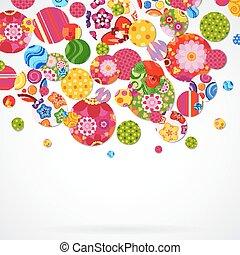 Antecedentes con círculos florales y ornamentales.