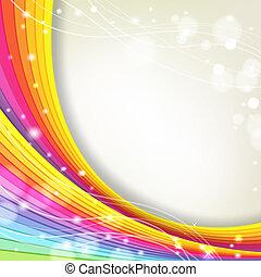 Antecedentes con colores de arco iris y destellos