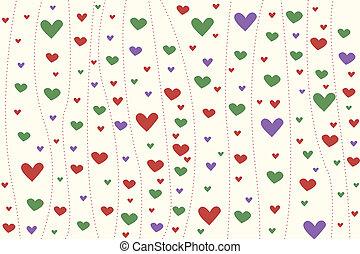 Antecedentes con corazones