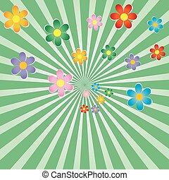 Antecedentes con flores