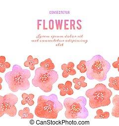 Antecedentes con flores. Violetas acuarelas.