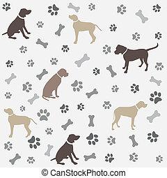Antecedentes con huellas de patas de perro