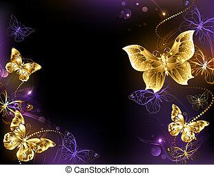 Antecedentes con mariposas doradas