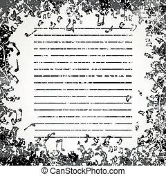 Antecedentes con notas musicales