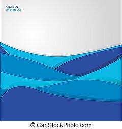 Antecedentes con olas del océano