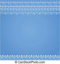 Antecedentes con patrón geométrico abstracto