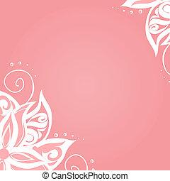 Antecedentes con patrones florales