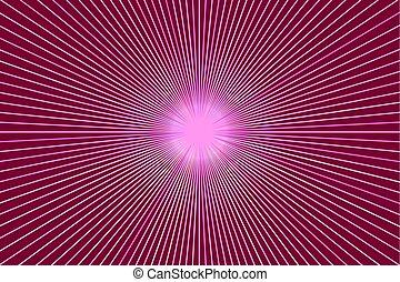 Antecedentes con rayos, estandarte rosa