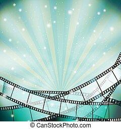 Antecedentes con retro cinematografía y estrellas
