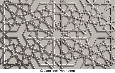 Antecedentes con un patrón 3D sin costura al estilo islámico