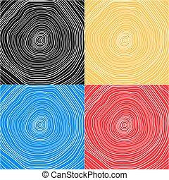 Antecedentes conceptuales vectores con anillos de árboles. Corte de árbol. Stump. Snag.
