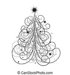Antecedentes de árbol de Navidad, vector