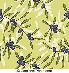 Antecedentes de aceite de oliva realistas