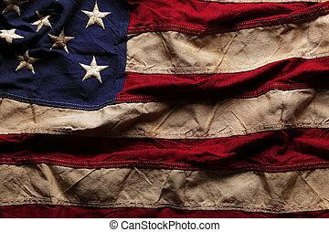 Antecedentes de bandera americana para el Día de la Conmemoración o el 4 de julio