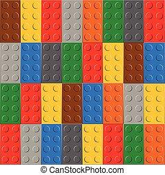 Antecedentes de bloque de construcción de plástico