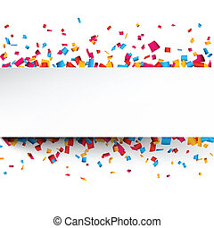 Antecedentes de celebración de confeti.