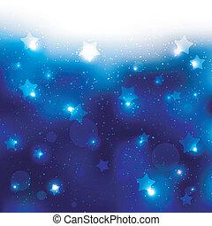 Antecedentes de celebración de estrellas azules brillantes