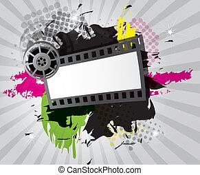 Antecedentes de cine con cinta de cine