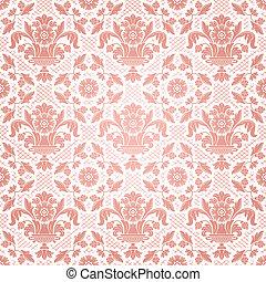 Antecedentes de encaje, flores de adorno rosa
