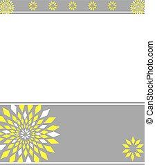 Antecedentes de flor gris