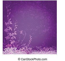 Antecedentes de flores púrpura