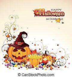 Antecedentes de Halloween con Jack O' linterna