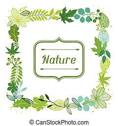Antecedentes de hojas verdes estilizadas.