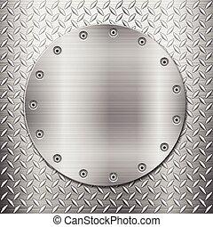 Antecedentes de metal y placas circulares