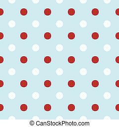 Antecedentes de Navidad con puntos Polka en rojo y blanco