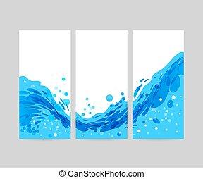 Antecedentes de ondas triples, diseño de folletos